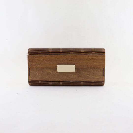 wooden natural clutch bag, natural colour SS20